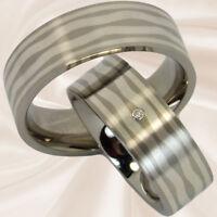 Diamantringe mit Silbereinlage Eheringe Hochzeitsringe Trauringe mit Gravur
