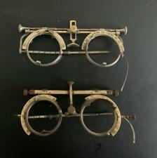Two Vintage American Pairs Optical Trial Lens Lenses Frames Steampunk