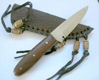 Buffalo Brand Trappermesser Messer Knife mit Gürtelholster Leder 106