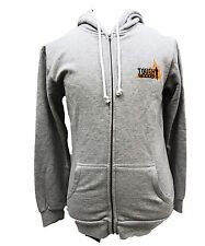 TOUGH MUDDER FIRE FLAME ATHLETIC GEAR ZIPPER HOODIE GREY SWEATER APPAREL Lg T30