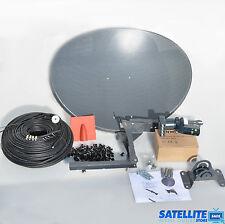 Freesat / Sky 60cm zone 1 satellite dish & quad lnb + 20m Single black coax kit