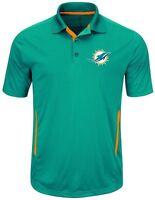 Miami Dolphins NFL Mens Cool Base Performance Polo Shirt Aqua Big & Tall Sizes
