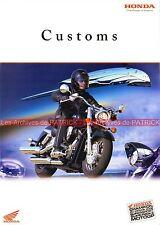HONDA Customs VT 125 Shadow 750 DC Blackwidow VTX 1300 1800 Brochure Moto 2003