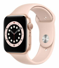 Apple Watch Series 6 44mm Gold Aluminum Case with Pink Sand Sport Band GPS