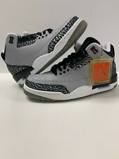 JORDAN RETRO III CEMENT SILVER BLACK WOLF GREY MEN Size 7 136064-004 NIB RARE