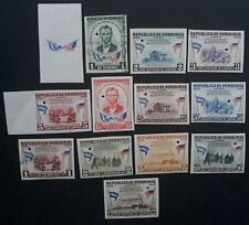 RARE 1959 Honduras set of 13 Imperf Proof Abraham Lincoln stamps MNG