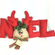 Rudolph the Red Nosed Reindeer Christmas Puffy Felt Noel Wall Hanging