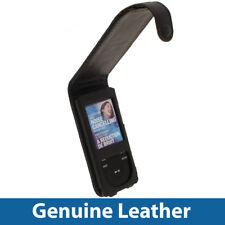 Black Leather Case for Sony Walkman NWZ-E574 NWZ-E575 NWZ-E574B NWZ-E575B Cover