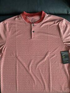 Nike Men's M Medium CI7911  DRI-FIT BLADE COLLAR VAPOR GOLF Textured Red