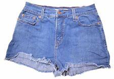 LEVI'S Womens 512 Denim Shorts Size 8 W26 Blue Cotton  IQ04