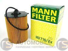 1X Filtro de Aceite Mann HU716/2x Citoen Fiat Ford Mazda Mini Peugeot Toyota