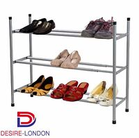 New 3 Tier Shoe Rack Stackable & Extendable Shoes Storage Organiser Stand