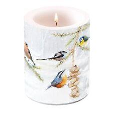 Kerze, Lampionkerze ALL TOGETHER 12cm Ambiente | Vögel, Wintervögel, Meise