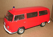 1/24 Volkswagen Type 2 T2 Bus Diecast Model 1972 Feuerwehr Fire Unit Welly 22472
