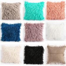 45x45CM Luxury Soft Faux Fur Fleece Pillow Cushion Cover Pillowcase 8Colors
