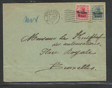 Belgium German occupation stamps on cover 1917 Ex0411