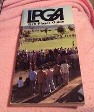 1978 LPGA Player Guide Nancy Lopez Nice Condition