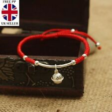 S925 Sterling Silver Bell Lucky Red Rope Shambala Bracelet - SENT SIGNED FOR