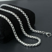 50cm Solid Alloy Silver Snake Chain Necklace Chains Unisex Gift Beautiful