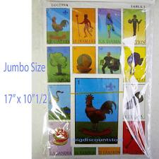 """Jumbo Large Size MEXICAN LOTERIA BINGO GAME 10 PLAYER BOARD 54 Card 17"""" x 10""""1/2"""