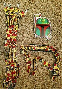 Seedless Clothing Company Lot of 5 Lanyards & Boba Decal, 1 lanyard has pouch
