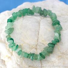 John of God Blessed Green Aventurine Quartz Crystal Energy Bracelet CAB-8