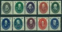 Germany DDR GDR 1950 Mi 261-270 MNH 250 Years German Academy of Science 50648
