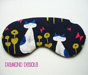 Eye Sleep Mask Cats Soft Cotton Travel Blindfold Comfy Gift Blackout Relax UK
