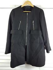 ZARA sz L (or 14 / 10 us ) womens black coat / Jacket [#1672]