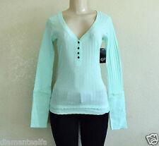 $32 Fox Racing Women's Start Up Henley Long Sleeve Shirt - Mint sz S