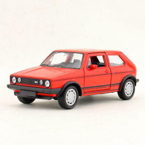 Classic VW Golf 1 GTI 1:36 Model Car Diecast Kids Toy Vehicle Collection Red