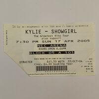 Kylie - NEC Arena April 17 2005 Concert Ticket Stub