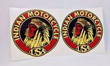 Pair of Indian Motorcycle, America's Pioneer Vintage Style DECAL, Vinyl STICKER