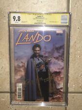 """Lando #1 Cgc 9.8 Signed Billy Dee Williams """"Lando�. Rare Collector Piece"""