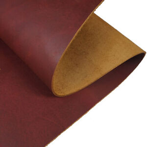2.0mm Thick Tooling Leather Square Full Grain Cowhide Leather Craft 5/6OZ Brown