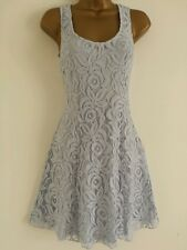 NEW MISS Self Size 6 Baby Blue Floral Lace Retro Summer Holiday Skater Dress