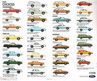 1980 FORD Brochure: MUSTANG,T-BIRD,LTD,PINTO,GRANADA,FIESTA,FAIRMONT,FUTURA,