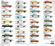 1980 FORD Brochure: THUNDERBIRD,MUSTANG,LTD,PINTO,GRANADA,FIESTA,FAIRMONT,