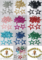 FABRIC GLITTER 35mm STAR OUTLINE IRON-ON HOTFIX DIY CRAFT TSHIRT TRANSFER PATCH