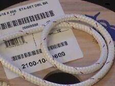 """5/16"""" Sta-set Rope, per-10 ft, New England Ropes White Staset, 2100-10"""
