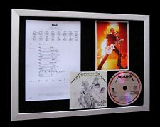 METALLICA One LTD TOP QUALITY CD MUSIC FRAMED DISPLAY+EXPRESS GLOBAL SHIPPING!!