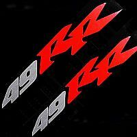 Pocket Bike Stickers decals 49RR SILVER RED ruckus 49cc zumma vino scooter moped