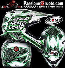 Motorcycle Helmet cross Enduro Motard Off-Road Trial Suomy Mr Jump S Line Green