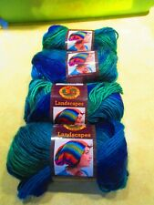 Lion Brand Landscapes Yarn - Blue Lagoon #207-  147 Yds - 3.5oz