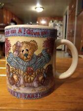 Boyds Bear Ware Pottery Works Team spirit theme Mug Coffee Cup Good- no damage!