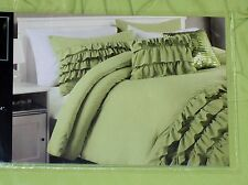 CYNTHIA ROWLEY DUVET & SHAM SET 2 Pc GREEN TWIN XL COLLEGE DORM NWT