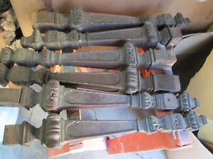 6 ANTIQUE TABLE LEGS (LOT)