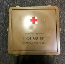 USGI MILITARY VINTAGE OD LARGE GENERAL PURPOSE MEDICAL SUPPLY BOX FIRST AID