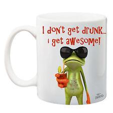 Juko I Don't Get Drunk I Get Awesome Funny Frog Mug