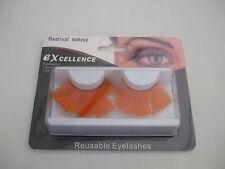 Excelencia teatral Pestañas Postizas Maquillaje enorme largo Reutilizable Naranja Nuevo
